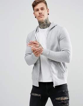 New Look Zip Through Hoodie In Gray