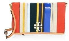 Tory Burch McGraw Stripe Leather Crossbody Bag - MULTI - STYLE