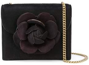 Oscar de la Renta flower appliqué cross-body bag