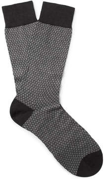 Pantherella Dalby Patterned Cotton-Blend Socks