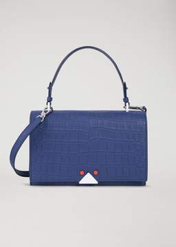 Emporio Armani Crocodile Print Leather Handbag