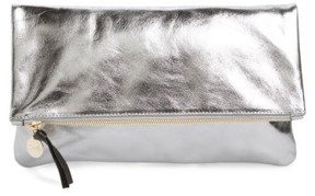 Clare Vivier 'Maison' Metallic Leather Foldover Clutch - Metallic