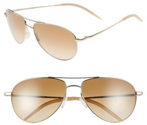Oliver Peoples Women's 'Benedict' 59Mm Gradient Aviator Sunglasses - Gold/ Chrome Amber