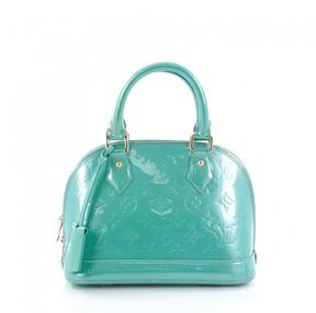 Louis Vuitton Green Leather Handbag - GREEN - STYLE