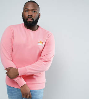 Ellesse PLUS Sweatshirt With Small Logo In Pink