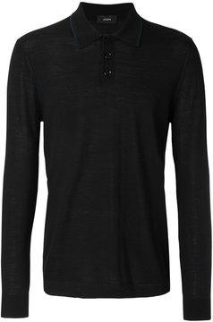 Joseph long sleeve polo shirt