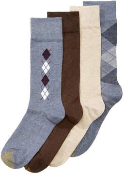 Gold Toe 4-Pack Argyle Dress Socks