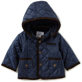 Starting Out Baby Boys 3-9M Quilted Hooded Jacket