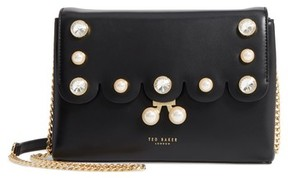 Ted Baker Saraa Leather Crossbody Bag - Black