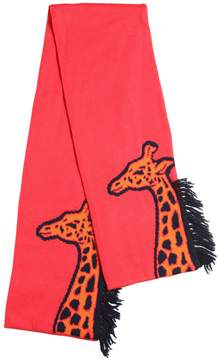 Paul Smith Giraffe Intarsia Cotton Blend Scarf