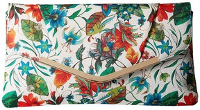 Jessica McClintock - Arielle Tropical Floral Envelope Clutch Clutch Handbags