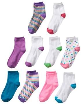 Hanes Girls 4-16 10-pk. Ankle Socks