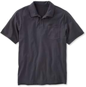 L.L. Bean L.L.Bean Lakewashed Garment-Dyed Cotton Polo, Slightly Fitted Short-Sleeve
