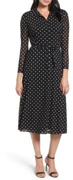 Anne Klein Women's Polka Dot Shirt Dress