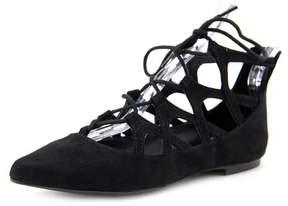 Mia Anamarie Women Pointed Toe Canvas Black Flats