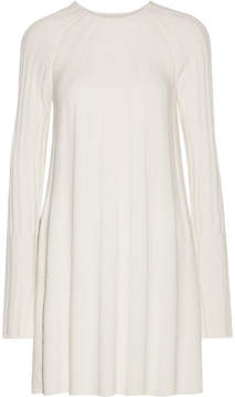 Elizabeth and James Gerri Ribbed-knit Mini Dress - Ivory
