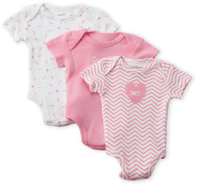 Petit Lem Newborn Girls) 3-Pack Sweet Bodysuits