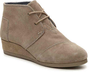 Toms Desert Toddler & Youth Wedge Bootie - Girl's