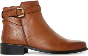 Dune Ladies Tan Poppy ? Buckle Detail Side Zip Ankle Boots