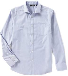 Murano Slim Long Sleeve Spread Collar Dobby Woven Shirt
