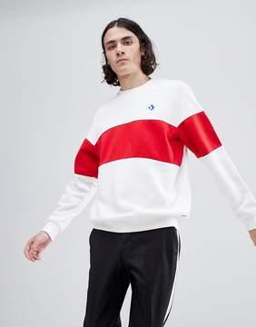 Converse Cons Crew Neck Sweatshirt In White 10005686-A01