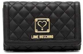 Love Moschino Quilted Foldover Wallet