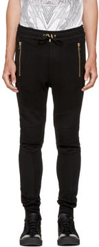 Balmain Black Quilted Lounge Pants