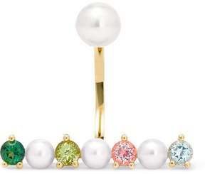 Delfina Delettrez 9-karat Gold Multi-stone Earring