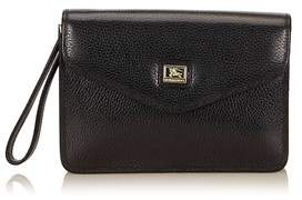 Burberry Pre-owned: Leather Clutch Bag. - BLACK - STYLE