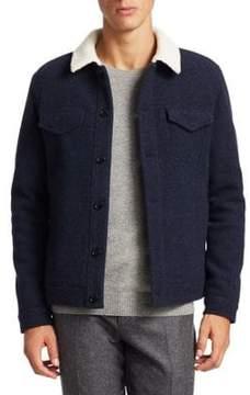 Loro Piana Shearling-Trim Buttoned Jacket