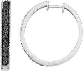 Black Diamond Kohl's Sterling Silver 1/10 Carat T.W. Hoop Earrings