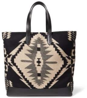 Ralph Lauren Wool-Cashmere Blanket Tote Black Multi One Size