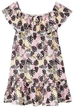 MANGO Ruffled tropical dress