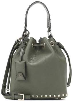 Valentino Rockstud Small leather bucket bag