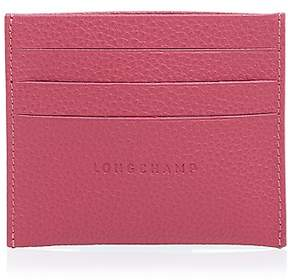 Longchamp Le Foulonne Leather Card Case - PILOT BLUE - STYLE