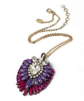Amrita Singh Austrian Crystal & Purple Artistry Ombre Pendant
