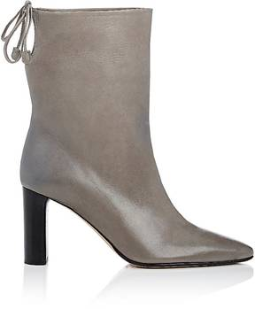 The Row Women's Back-Tie Leather Ankle Boots