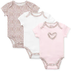 Little Me Baby Girls' 3 Pack Leopard-Print Bodysuits