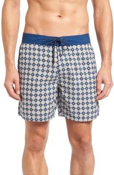 Mr.Swim Men's Star Tile Print Board Shorts