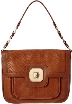 Longchamp Leather Shoulder Bag - BROWN - STYLE