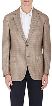 Luciano Barbera MEN'S CHECKED CASHMERE-WOOL TWO-BUTTON SPORTCOAT