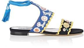 Tabitha Simmons Women's Barva Spain Linen Ankle-Tie Sandals