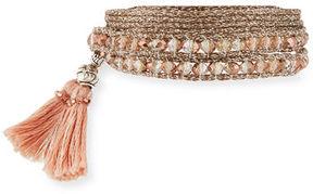 Chan Luu Beaded Tassel Choker Necklace