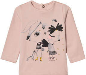 Catimini Pink Animal Print Long Sleeve Tee
