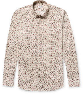 Incotex Kurt Slim-Fit Floral-Print Cotton-Poplin Shirt