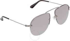 Prada Gradient Grey Mirror Silver Aviator Men's Sunglasses PR 58OS 5AV6T2