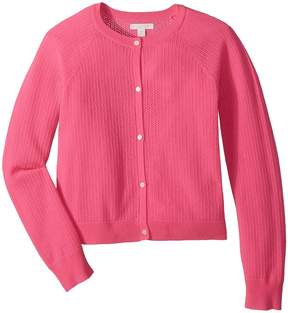 Burberry Flissey Fluro Cashmere Cardigan Girl's Clothing