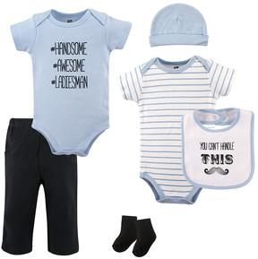 Hudson Baby White Mustache Six-Piece Layette Set - Infant