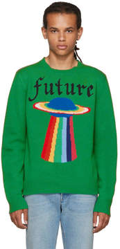 Gucci Green Intarsia Future Sweater