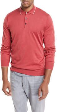 Brunello Cucinelli Long-Sleeve Polo Sweater